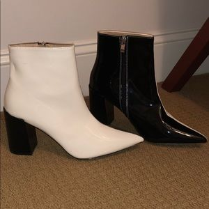 Black And White Booties Nasty Gal